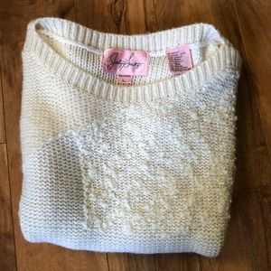 Vintage✨Textured Knit Boxy Sweater Top-Size M/L